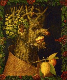Giuseppe Arcimboldo: Winter, Allegorie. Gemälde