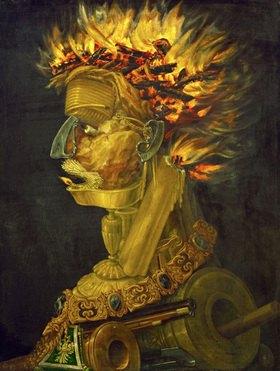 Giuseppe Arcimboldo: Feuer, Allegorie. Gemälde