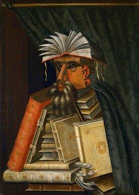 Giuseppe Arcimboldo: The Librarian. Gemälde