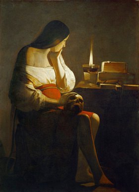 Georges de La Tour: Madeleine a la Veilleuse. Gemälde