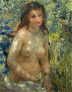 Auguste Renoir: Frauenakt, sitzend. Gemälde. 1875-1876. 81 x 65 cm