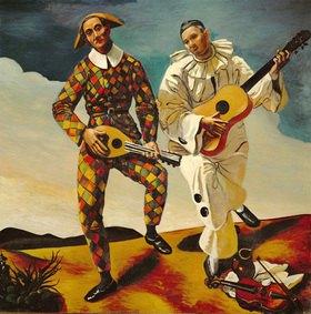 André Derain: Zwei Clowns. Gemälde, Andre Derain (1880-1954). Musee de l'Orangerie, Paris, France