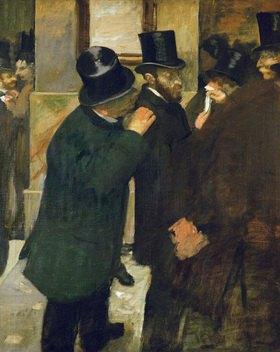 Pariser Börse. Ernest May (1845-1925), Finanzier und Sammler. Öl auf Lw. 1878-1879. 100 x 82 cm