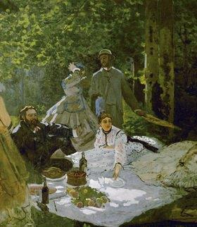 Claude Monet: Picknick mit den Malern Gustave Courbet und Frederic Bazille