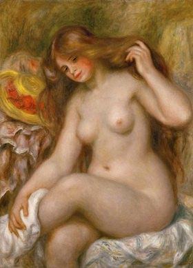 Mädchen mit blonden Haaren. ÖL auf Lw. 1904-1906, 92 x 73 cm