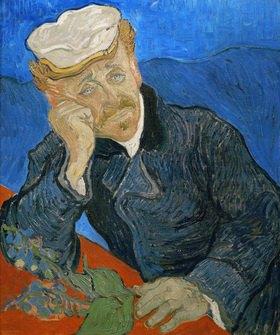 Le docteur Paul Gachet, Gemälde 1890, 60 x 73 cm