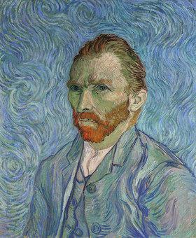 Vincent van Gogh: Vincent Van Gogh, Selbstportrait. Gemälde