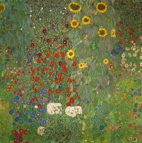 Gustav Klimt: Sonnenblumen 1912, 110 x 110 cm