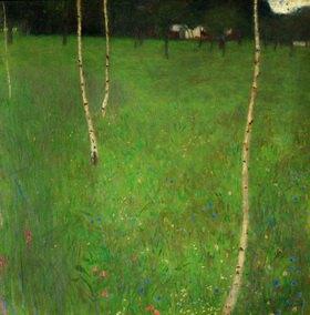 Gustav Klimt: Bauernhaus mit Birken