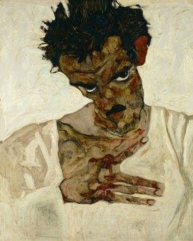 Selbstportrait Studie für Eremiten. Öl auf Holz 1912, 42,2 x 33,7 cm