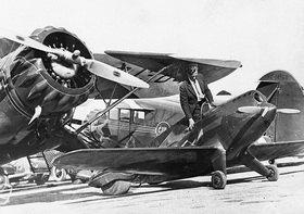 Die Tilbury Flash war zu ihrer Zeit, Anfang der 30er Jahre, die kleinste Sportmaschine der Welt. Miami, USA, Photographie
