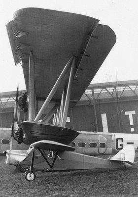 Die Handley Page H.P.42 der British Imperial Airways war zu ihrer Zeit das grösste Flugzeug der Welt. Photographhie