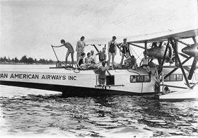 Wasserflugzeug. Photographie