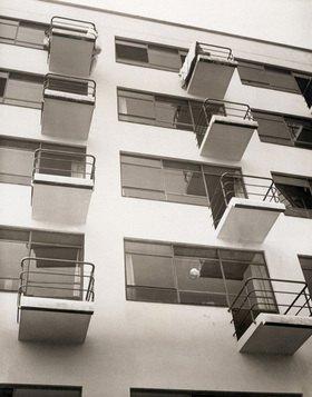 Das Bauhaus, die Kunsthochschule in Dessau. Deutschland. Photographie