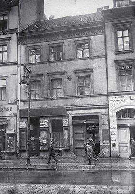Das Geburtshaus  des deutschen Politikers Gustav Stresemanns. Berlin. Photographie