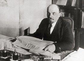 Portrait von Wladimir Iljitsch Lenin. 1870-1924. Russischer Revolutionär und Politiker. Photographie