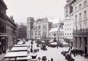 Die Freyung in Wien. Wien. Österreich. Photographie