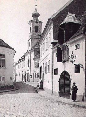 Kirche in Nussdorf, Wien, Österreich. Photographie