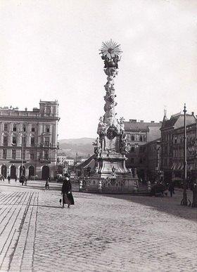 Pestsäule auf dem Hauptplatz in Linz, Oberösterreich, Österreich. Photographie