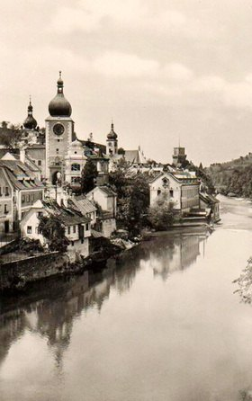 Stadtansicht von Waidhofen an der Ybbs, Niederösterreich, Österreich. Photographie