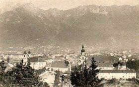 Panoramaansicht von Innsbruck, Tirol, Österreich. Photogaphie