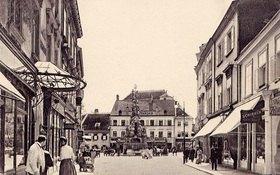 Hauptplatz in Baden, Niederösterreich, Österreich