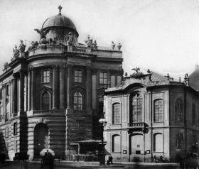 Das alte Burgtheater und die Hofreitschule am Michaelerplatz. Wien. Österreich. Photographie