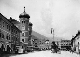 Stadtplatz von Lienz, Osttirol, Österreich. Photographie