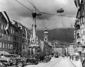 Maria Theresienstrasse in Innsbruck. Photographie