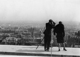 Blick über Paris, vom Montmartre aus gesehen. Photographie