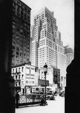 Das 40 Stockwerke hohe Gebäude der Standard Oil Company, New York. Amerika. Photographie