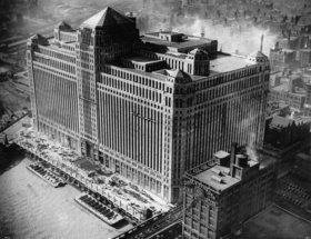 Das seinerzeit größte Gebäude der Welt. Chicago. Photographie