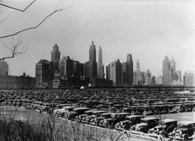Parkplatz in mitten Chicagos. Photographie