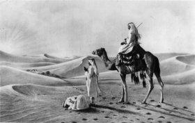 Landschaft in der Sahara. Photographie