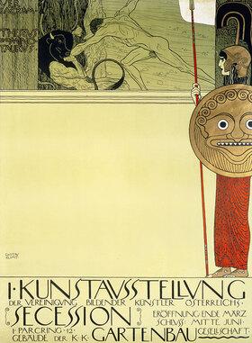 Gustav Klimt: Plakat für die 1. Ausstellung der Secession