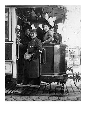 Emil Mayer: Wiener Tramway Rückwärtige Plattform