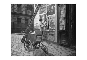 Emil Mayer: Plakatankleber auch Zettelanpapper genannt in Wien