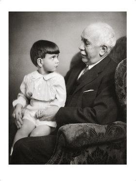 Franz Xaver Setzer: Richard Strauss mit seinem Enkel
