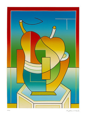 Ludwig Gebhard: Glas, Apfel, Birne