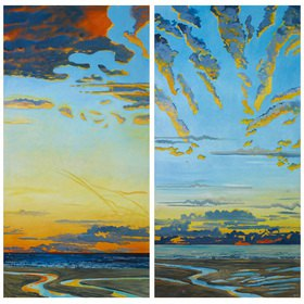 Lothar Simhart: Der Morgen, Diptychon