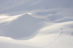 Michael Reusse: Alpen, Sulden, Skifahrer