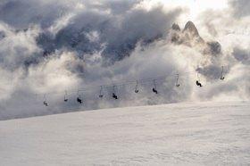 Michael Reusse: Italien, Südtirol, Seiseralm, Skilift
