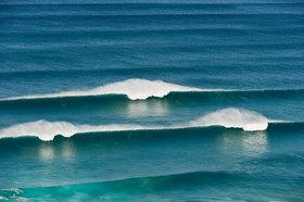Michael Reusse: Portugal, Algarve, Sagres, View of Atlantic ocean with breaking waves