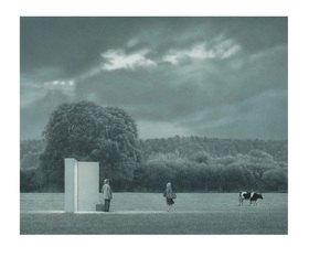 Quint Buchholz: Landschaft mit Bäumen und Kuh