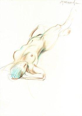 Reinhard Michl: Zeichnung, Akt Amanda
