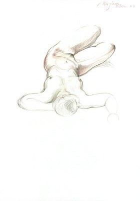 Reinhard Michl: Zeichnung, Akt Miriam