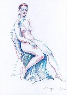 Reinhard Michl: Zeichnung, Akt Margit
