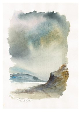 Reinhard Michl: Connemara, Irland, Aquarell