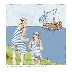 Rosemarie Zacher: Es müssen nicht immer Rauten sein (Buzentaur auf dem Starnberger See mit Gästen des Undosa-Wellenbads)