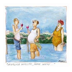 """Rosemarie Zacher: Pfarrer Kneipp: """"Aussich Wasser, inne Wein"""""""